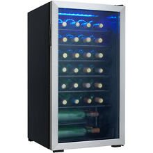 Danby DWC93BLSDB 36 Bottle Free Standing Wine Cooler   Black Stainless NEW