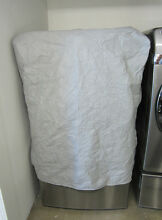 Custom Dust Resistant Gray Cover for Front Loading Washer or Dryer Machine