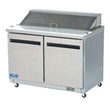 Arctic Air AMT60R Mega Top 60  Stainless Steel Sandwich   Salad Prep Cooler