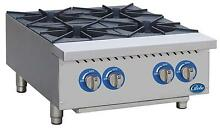 Globe GHP24G 24  Natural Gas Hot Plate with 4 Burners   Manual Controls