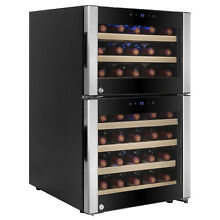 45 Bottle Dual Zone Freestanding Compressor Electric Wine Cooler Refrigerator