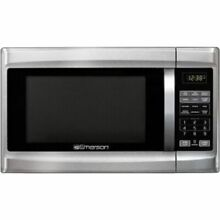 Emerson 1 3 cu  ft  Microwave Oven   Stainless Steel