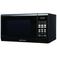 Emerson 0 9 cu  ft  Microwave Oven   Black