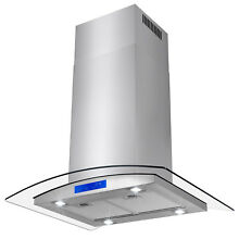 30  Island Mount Canopy Stainless Steel Kitchen Range Hood Cooking Stove Vent