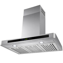 30  Wall Mount Stainless Steel Range Hood Kitchen Stove Vent Modern Touch Panel