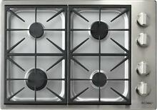 Dacor Discovery 30 Inch 4 Permaflame Sealed Burners SS Gas Cooktop DYCT304GSNG