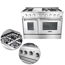 48  Home Modern Professional Stainless Steel 6 burners Gas Range Cooking Tool