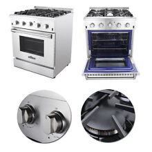 30  House Stainless Steel Gas Range with 4 Burners Cooking Machine High Quality