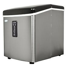 New Portable Ice Maker 28 lbs per day Ice Cube Machine Stainless Steel