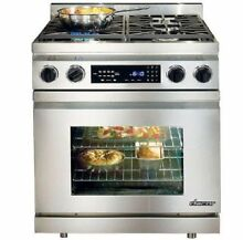 Dacor 30  4 Sealed Simmer Burners Convection Pro Style Dual Fuel Range DR30DNGH