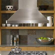 Dacor Discovery 54   1200 CFM blower Island Mount Range Hood Stainless DHI542