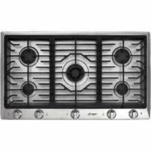 DACOR 36  Gas Cooktop Natural Gas 5 Sealed Burners Stainless DCT365SNG