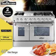 Thor Kitchen 48 Gas Range Electric Oven 6 Burners Cooktop HRD4803U Dual Fuel