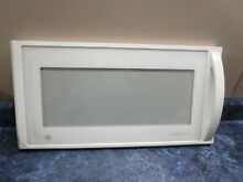 GE MICROWAVE DOOR WHITE PART  WB55X10407