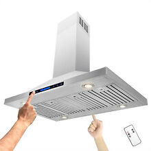 48  Stainless Steel Island Mount Touch Control Kitchen Vent Range Hood