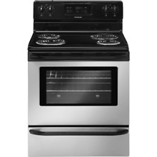 Frigidaire FFEF3015L Stainless Steel 30  Freestanding Electric Range with 4