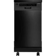 Frigidaire FFPD1821M Black 18  Portable Dishwasher with Stainless Steel