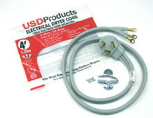Clothes Dryer Power Cord 3 Prong Wire 30 Amp 4  Foot 10 3 Gauge Wire Heavy Duty