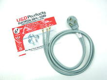 Clothes Dryer Power Cord 3 Prong Wire 30 Amp 6  Foot 10 3 Gauge Wire Heavy Duty