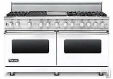 Viking Professional Series 60  Pro Style White Dual Fuel Range VDSC5606GQWHLP