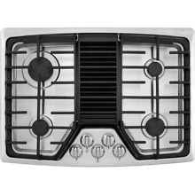 Frigidaire RC30DG60PS 30 Inch 4 Burner Gas Cooktop with Built In 500 CFM Downdra