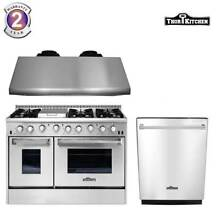 Thor Kitchen 48in  Gas Range 48in  Under Cabinet Range Hood  Dishwasher  Cooktop
