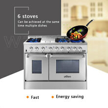Thor Kitchen HRD4803U Dual Fuel 48  Range Double Oven Appliance Cooker NG LPG