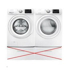 Samsung Electric Front Load Smart Care WHT Washer Dyer WF42H5000AW   DV42H5000EW
