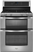 New  Whirlpool WGG555S0BS 30  Double Oven  Gas Range   Stainless Steel