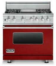 Viking Professional Serie 36  Apple Red Pro Style Dual Fuel Range VDSC5364GARLP