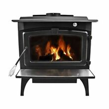 Pleasant Hearth LWS 130291 Large 77 000 BTU Wood Burning Stove with Blower