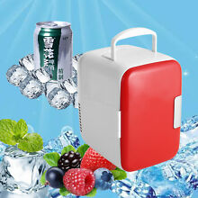 4L Portable Mini Car Home Fridge Freezer Refrigerator Cans Drink Cooler Warmer