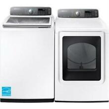 Samsung White 27  Active Sink Washer And Gas Dryer WA48J7700AW  DV48J7700GW