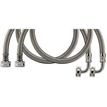 Certified Appliance WM60SSL2PK Braided Steel Washing Machine Hose Elbow   60