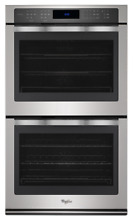 WHIRLPOOL 10 0 CU  FT  DOUBLE WALL OVEN WITH DIGITAL CONTROLS   WOD97ES0ES