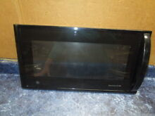 GE MICROWAVE DOOR BLACK PART  WB55X10139
