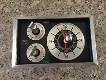 GE Hotpoint Stove Oven Clock Timer WB19X5224  3AST19A332A3B Chrome Knobs