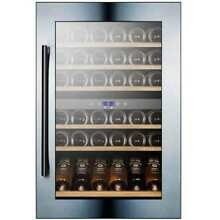 Summit VC60D 24 Inch Wide 59 Bottle Capacity Built In Wine Cooler with Dual Temp