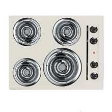 Summit EL03 24  Electric Cooktop with 4 Coil Element Burners and Indicator Light