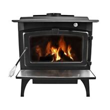 Pleasant Hearth LWS 127201 Medium 65 000 BTU Wood Burning Stove with Blower