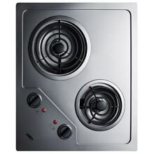 Summit CR2B122 22 Inch Wide Built In Electric Cooktop with Burner Operation Indi