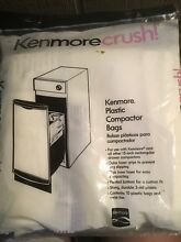 Kenmore Compactor Trash Bags 20 Ct Pack 15  Plastic Bag Home Free Shipping NEW