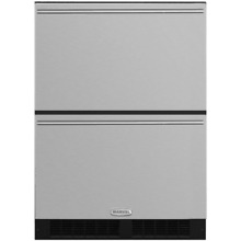 Marvel ML24RD3N 24  Wide 5 Cu  Ft  108 Can Built In Refrigerated Drawers with LE