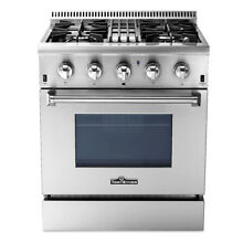 30  Stainless Steel Dual Fuel Range 4 2 cu ft  Kitchen Single Oven Stove Silver