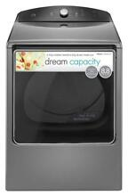 Kenmore 68133 8 8 cu  ft  Electric Dryer in Stainless Steel  includes