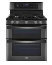 Kenmore Elite 6 1 cu  ft  Double Oven Gas Range w Convection Cooking in