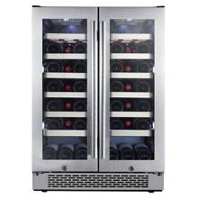 Avallon AWC241FD Built In 24 W 42 Bottle Capacity French Door Wine Cooler with D