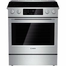 Bosch HEI8054U 30  4 6 Cu  Ft  Electric Slide In Range with European Convection