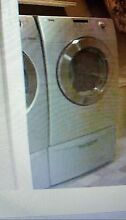 Samsung Stainless Steel Front Load Washer Dryer with  Pedestals  pre owned