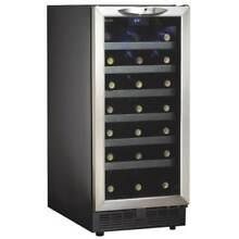 Danby DWC1534 15 Inch Wide 34 Bottle Capacity Built In Wine Cooler with LED Ligh